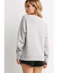 Forever 21 | Gray Ny La Graphic Sweatshirt | Lyst