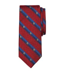 Brooks Brothers | Red Crest Double Stripe Tie for Men | Lyst