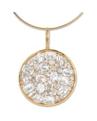 Stella McCartney - Metallic Stones Ring Necklace - Lyst