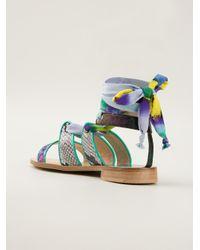 MSGM Multicolor Knot Sandals