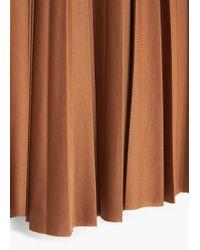 Mango | Brown Pleated Midi Skirt | Lyst