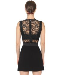 Dolce & Gabbana | Black Floral Embroidered Lace Top | Lyst