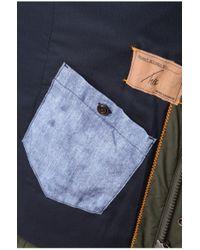 BOSS Orange Green Short Parka 'orgent1-w' In Cotton Blend for men