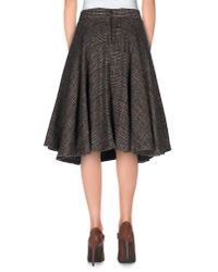 Erika Cavallini Semi Couture - Gray Knee Length Skirt - Lyst