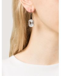 Rebecca - Metallic 'elizabeth' Stone Earrings - Lyst