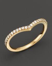 Khai Khai - Metallic 18k Yellow Gold Chevron Ring With Diamonds, .20 Ct. T.w. - Lyst