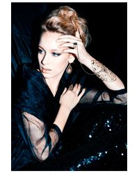 Ayaka Nishi | Metallic Gold Spiderweb Earrings | Lyst
