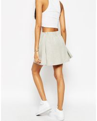 ASOS - Natural Mini Skirt With Origami Waist - Lyst