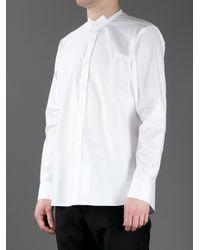 Saint Laurent - White Cutout Classic Shirt for Men - Lyst