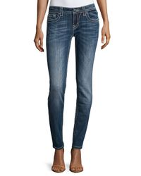 Miss Me | Blue Distressed Signature-rise Skinny Jeans | Lyst