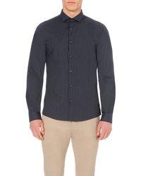 Michael Kors | Black Ross Gingham Cotton Shirt - For Men for Men | Lyst