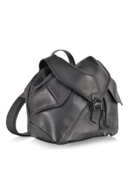 Carven - Plain Black Leather Backpack - Lyst