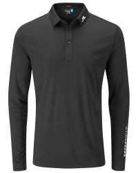 J.Lindeberg - Black Tour Tech Long Sleeve Polo for Men - Lyst