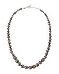 Majorica - White Gradient Tahitian Pearl Necklace - Lyst