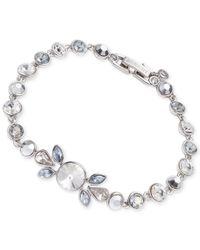 Givenchy | Metallic Silver-tone Multiple Crystal Flex Bracelet | Lyst