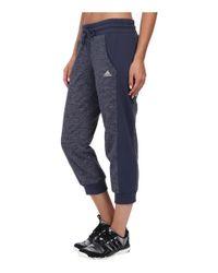 Adidas | Blue 24 Seven Capris | Lyst