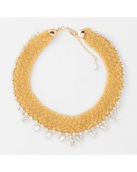 Paul Smith - Metallic Women's Gold Beaded And Topaz 'cleopatra' Necklace - Lyst