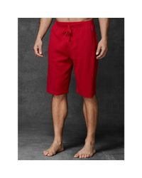 Polo Ralph Lauren - Red Waffle-knit Crewneck Tee for Men - Lyst