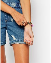 ASOS | Metallic Double Cross Ring | Lyst