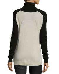 Vince Black Colorblock Turtleneck Sweater