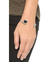Pamela Love - Black Eden Cuff Bracelet - Antique Silver/onyx - Lyst