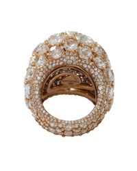 Arunashi | Pink Diamond Old Mine Dome Ring | Lyst