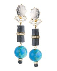 Lele Sadoughi | Vessel Drop Earrings Sea Blue | Lyst