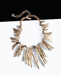 Oscar de la Renta Metallic Golden Wave Necklace