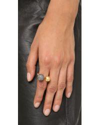 Madewell | Metallic Metal Sphere Ring - Gunmetal | Lyst