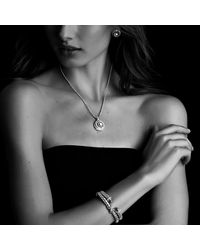 David Yurman | Metallic X Collection Narrow Bracelet With Diamonds | Lyst