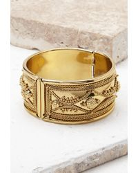 Forever 21 | Metallic Ornate Etched Cuff | Lyst
