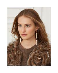 Ralph Lauren | Brown Antler Drop Earrings | Lyst