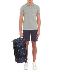 Moncler | Blue Side-Stripe Jersey Track Shorts for Men | Lyst