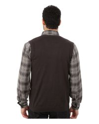 Woolrich | Black Highlands Vest for Men | Lyst