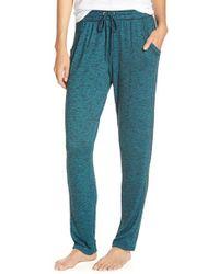Kensie - Green Knit Lounge Pants - Lyst
