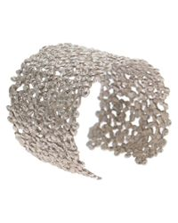 Natasha Collis | Metallic Large Dripped Sterling Silver Cuff | Lyst