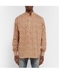 Saint Laurent | Natural Arabesque Henley Tunic-White Size 41 Cm for Men | Lyst