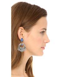 DANNIJO Metallic Avril Earrings - Ox Silver/crystal/italian Yves