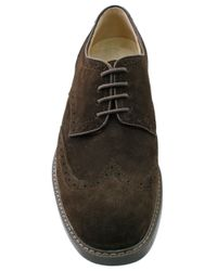 G.H. Bass & Co. | Brown Pembroke Suede Wingtip Oxfords for Men | Lyst