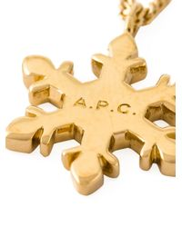 A.P.C. | Metallic Snowflake Pendant Necklace | Lyst