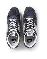 New Balance Blue 996 Nubuck Sneakers for men