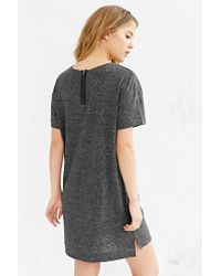 BDG - Gray Estelle Boyfriend T-shirt Dress - Lyst