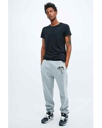 Stussy Gray World Tour Joggers in Grey for men