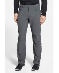 Patagonia - Gray 'quandary' Slim Fit All Season Pants for Men - Lyst