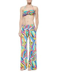 Trina Turk - Multicolor Viva La Vida Twisted Bandeau Top - Lyst