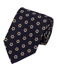 Drake's Blue Men's Floral Necktie for men