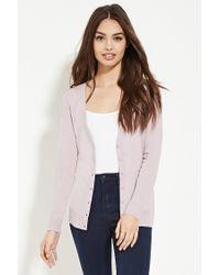 Forever 21 | Purple Classic Cardigan | Lyst