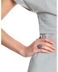 Annelise Michelson | Metallic Gunmetal Simple Draped Ring | Lyst