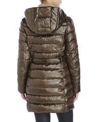 Ellen Tracy | Brown Asymmetrical Packable Down | Lyst