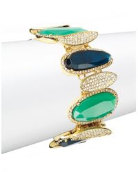 Lauren by Ralph Lauren | Blue Swarovski Crystal And Stone Bracelet | Lyst